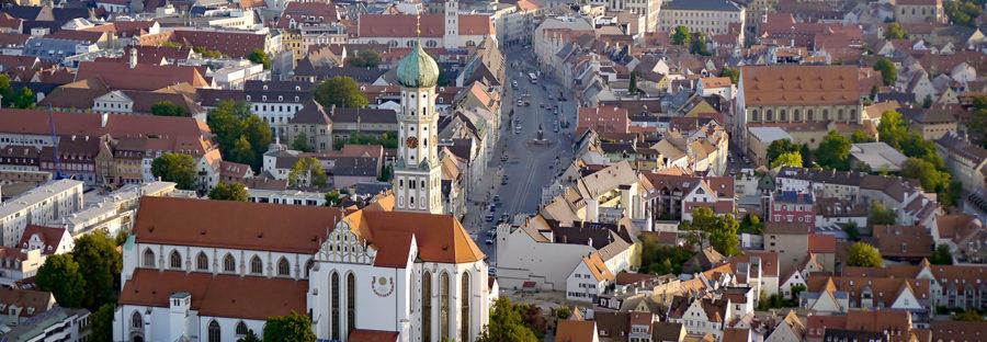 Luftaufnahme von der Augsburger City